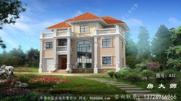 乡村三层别墅美丽的设计
