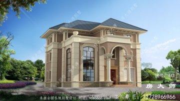 带大阳台三层房屋欧式别墅,外观