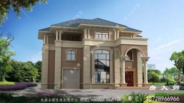 三层复式别墅建筑设计图