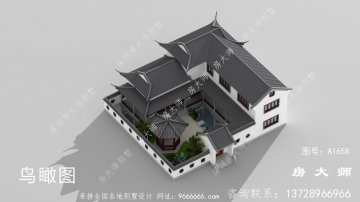 两层苏式园林别墅设计效果图
