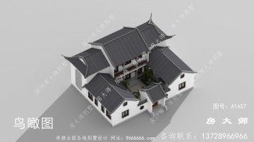 新中式四合院别墅设计图大全