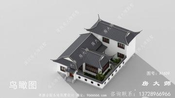 带庭院的中式别墅设计效