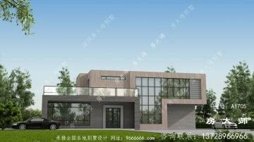新农村两层现代别墅设计