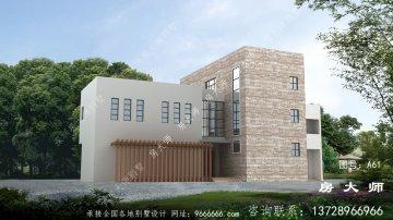 三层别墅的设计简洁大气,极具活