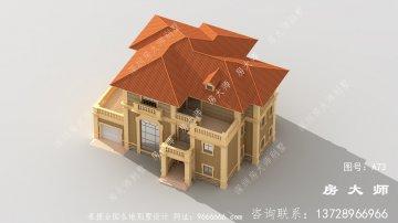 最新款别墅外观图设计图,外型尽
