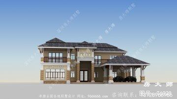 东南亚风格二层别墅设计图纸