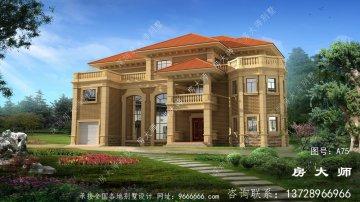 新别墅的外观图是设计图,外观表