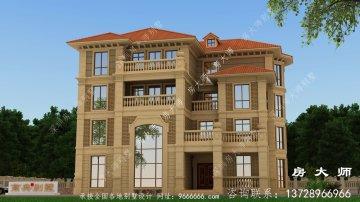 新型农村法式风格别墅设计图