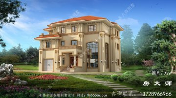 新型农村精致的意大利风格别墅
