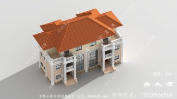 欧式风格新农村别墅房型设计图