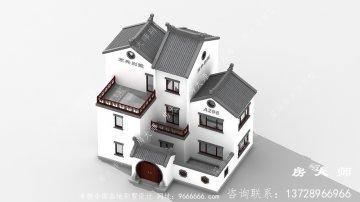 豪华新中式三层别墅设计图纸