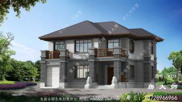 农村新中式二层别墅设计