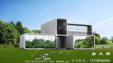 最具创意现代风格二层别墅设计图