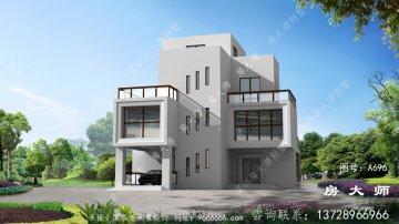 现代风格三层别墅设计图