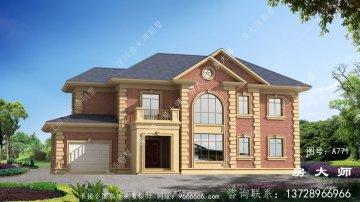 最新两层法式风格别墅外观效果图