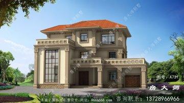 简欧精致三层复式别墅设计图