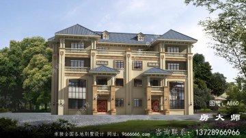 四层双拼意大利风格别墅设计图