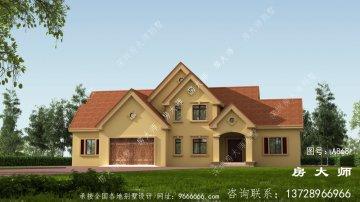 农村美式低调二层别墅设计图