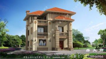 欧式古典三层农村别墅设计图