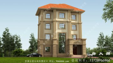欧式古典复式四层别墅设计效果图