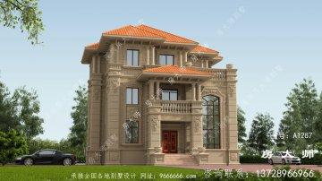 三层意大利风格自建别墅设计图纸