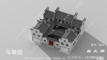 豪华中式三层别墅设计图