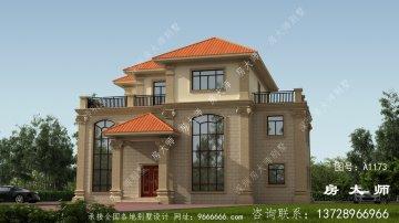 乡村高档复式三层简欧别墅设计图