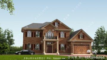 二层别墅设计外观效果图配车库