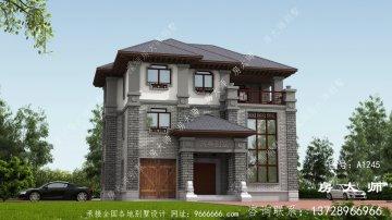 乡村文雅三层新中式别墅