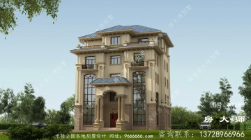 最新欧式高档复式五层别墅外观设