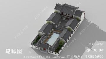 大型新中式四合院建筑设