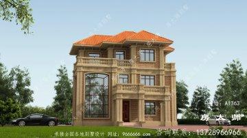 时尚欧式三层复式别墅设计图纸