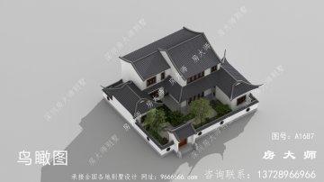漂亮的两层苏式园林别墅设计户型效果图
