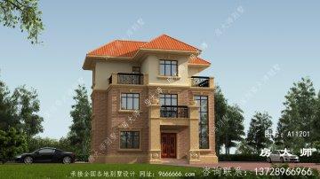 三层别墅的设计规模合理,外观精