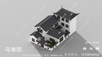 美观实用三层苏式园林别墅设计效果图