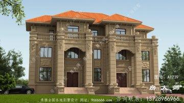 三楼别墅的房屋设计图,户型合理