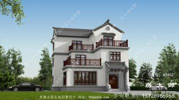 农村新中式三层别墅设计图