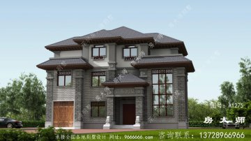 三层别墅房屋设计图,一栋合适乡村的独