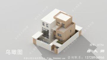 农村三层现代风格别墅设