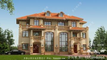 双复式大厅三层楼的住宅