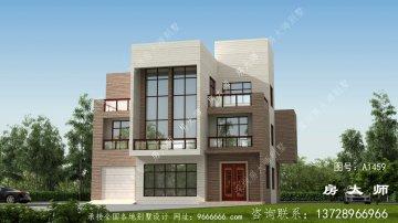 三层新农村房屋设计图,包括外观效果图