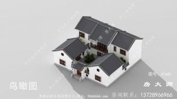 中式两层庭院别墅,占地238 平方米