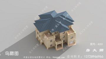 经济实惠的法式风格三层别墅