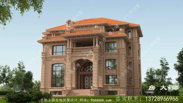 欧式四层别墅房屋设计图,外型新