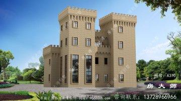 欧式气派城堡式四层别墅