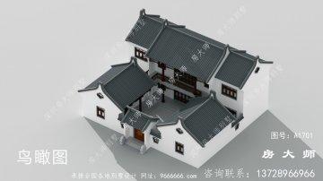 新农村中式两层别墅照片,带整套设计图