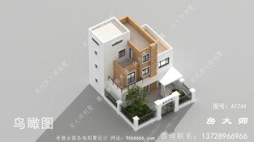 乡村四层别墅房子设计房型图,简洁清雅