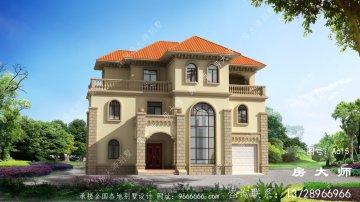 复式高雅三层欧式农村别墅设计大