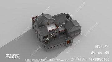富贵大气三层新中式别墅
