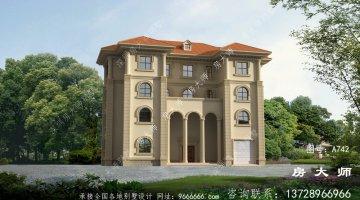 欧式豪华四层别墅图纸设计图